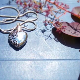 Stainless steel Memorial Heart Pendant