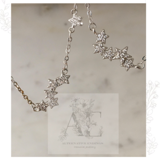 Sterling Silver Constellation Star Necklace