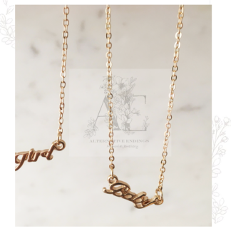 Gold Baby Necklace